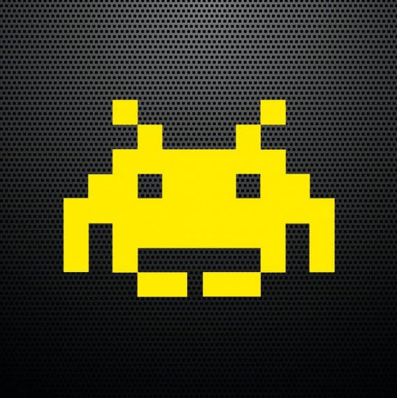 Pegatina Space Invaders